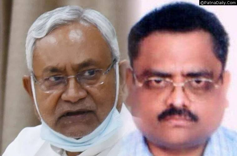Nitish Kumar and Bihar Chief Secretary Arun Kumar Singh.