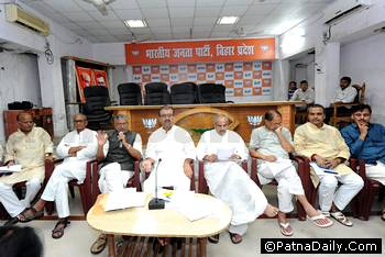 BJP leaders in Patna.