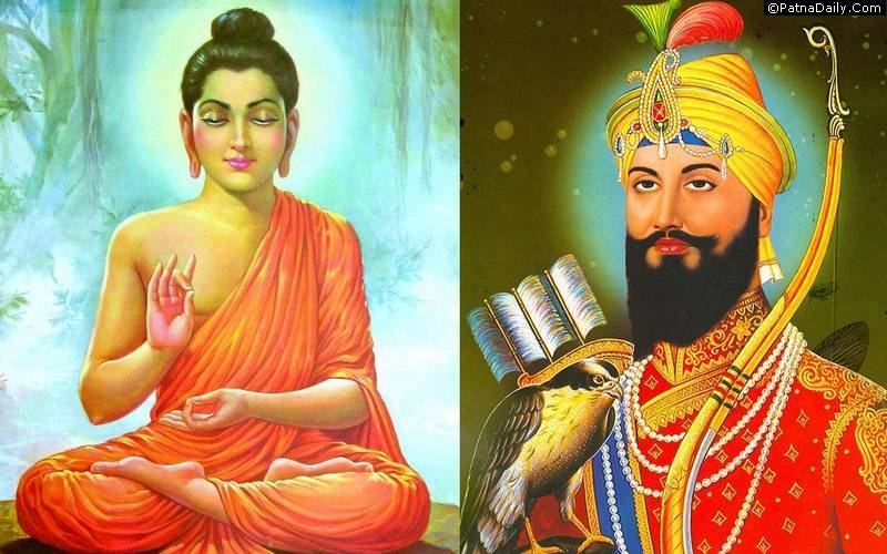 Lord Buddha and Sikh's 10th religious leader Guru Govind Singh.