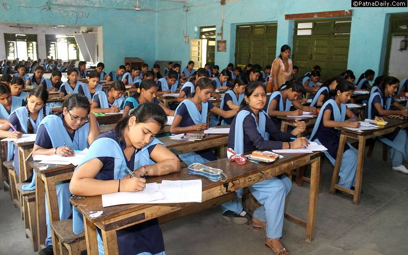 Students in Patna appearing in their exam (file photo).