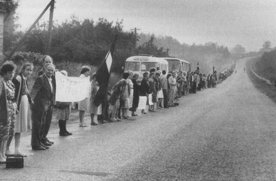Baltic human chain in 1989.