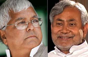 Lalu Prasad Yadav and Nitish Kumar.