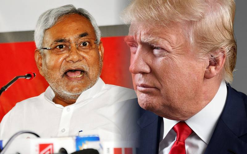 Bihar Chief Minister Nitish Kumar and US President-elect Donald J. Trump.
