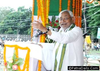 Former Chief Minister and the face of the JD-U Nitish Kumar.