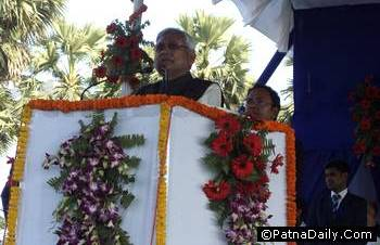 nitish speaking