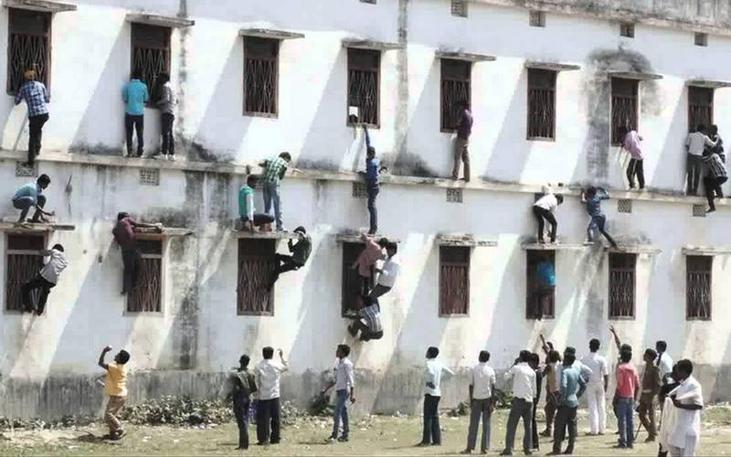 Cheating in Bihar exams.
