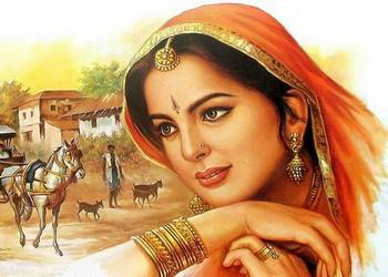 Painting of an Indian Woman