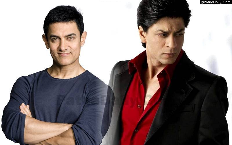 Film stars Aamir Khan and Shah Rukh Khan.