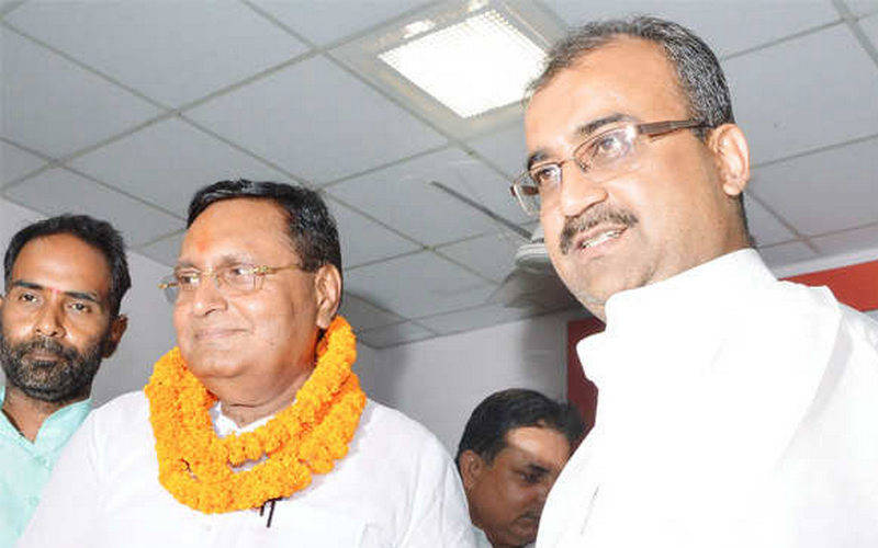 BJP leader Rajiv Ranjan while joining BJP in 2015 (file photo).